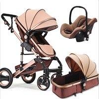 Детская коляска 3 в 1, портативная складная детская коляска высокого качества, четыре детская коляска на колесах