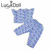 Handmade Suihua short sleeved pajamas Fit 43cm New Baby Born Zapf best gift for kids free shipping