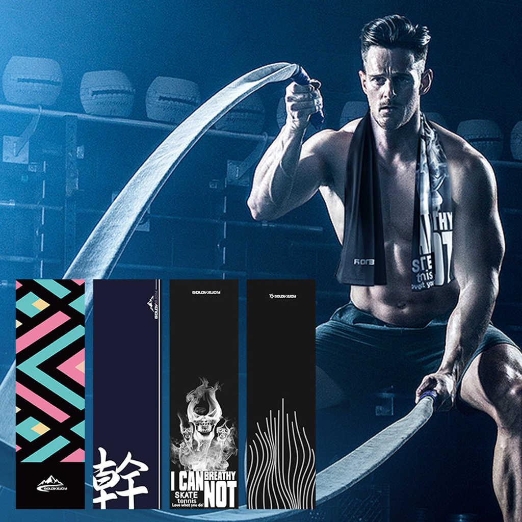 REXCHI ultraléger microfibre Gym Yoga serviette séchage rapide sensation de froid sueur refroidissement glace pour plage natation course Jogging voyage