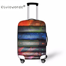 ELVISWORDS Harry Potter Book Print Luggage Cover Dustproof Suitcase Bags New Luggage ID Name Tags Customized Travel Accessories