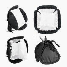 "5 teile/los Tragbare 23x23cm 9 ""Universal Speedlite blitzlicht Softbox Diffusor Für Canon Nikon Sony yongnuo Godox"