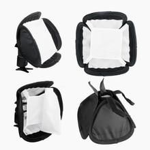 "5 unids/lote portátil 23x23cm 9 ""Universal Speedlite Flash luz suave caja difusor para Canon Nikon Sony yongnuo Godox"