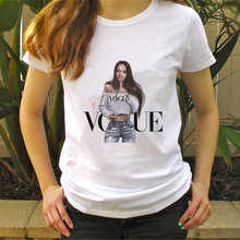 New Arrivals Summer 2019 Vogue T-shirt Women Clothes O-neck Short Sleeve Tees Ladies T Shirts Harajuku Fashion Streetwear Tops fashion ice silk all match o neck short sleeve t shirts summer new arrivals knitting bottoming fitness european style tops 1610