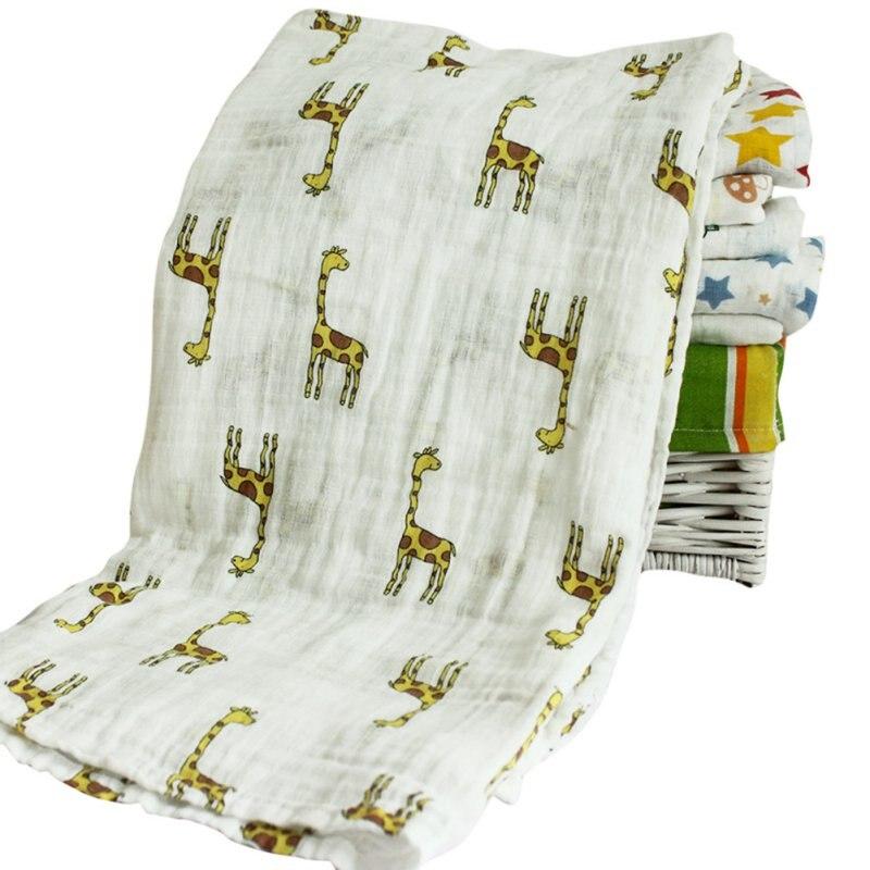 Winter Baby Cartoon Cute Swaddling Blanket Newborn Infant Cotton Autumn Warm Swaddle Towel 120x120cm Muslin H3 A