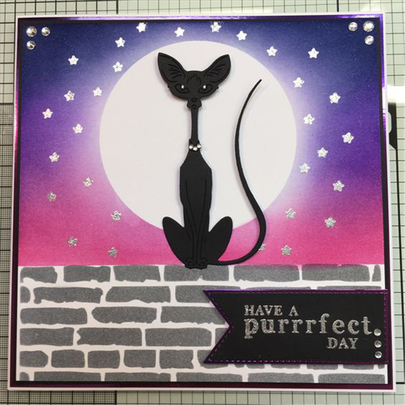 Naifumodo Siamese Cats Metal Dies Cutting Scrapbooking Embossing Cut Stencils Cards Craft for New 2019