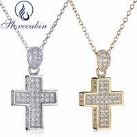 Europe Popular 925 Sterling Silver Cross Pendant Necklace For Women Thick Cross Pendant Necklace With AAA