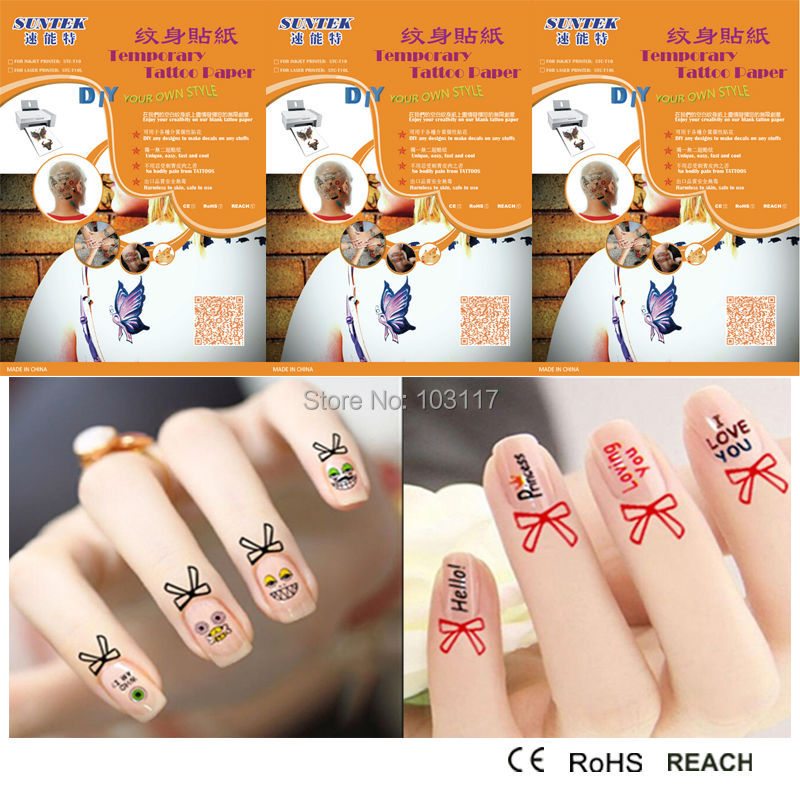 blank tattoos sticker temporary tattoo new design nail
