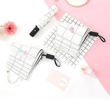 цена Fully automatic lattice umbrella, black rubber triple fold sunscreen umbrella, sunshine umbrella and sunshine umbrella онлайн в 2017 году
