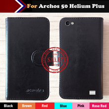 OYO Case Archos 50 Helium Plus + Factory price Flip Leather Protective Phone Cover Luxury Wallet Design