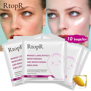 10pc Face Anti-Aging Anti Winkles Hyaluronic Acid Mango Effect Emulsion Deep Hydrating Whitening Skin Care Beauty Emulsion TSLM1 1