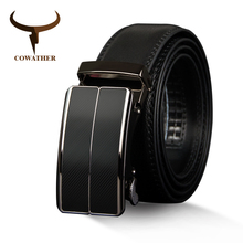 COWATHER New Arrival  cow genuine leather men's belt cowhide strap for male
