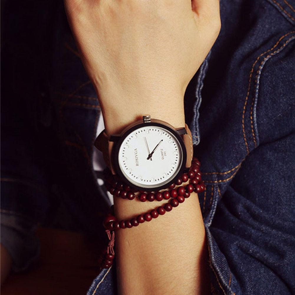 Leather Quartz Analog Couple Wrist Watch Men Women Fashion Stainless Steel White Casual Luxury Quartz Wristwatches