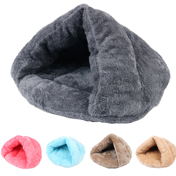 Winter Warm Pets Mat 5 Colors Soft Fleece Thicken Nest Pet Cat Small Dogs Puppy Kennel Bed Kitten Cave Sleeping Bag Puppy House