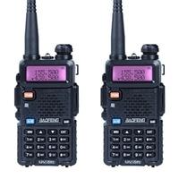2ピース/ロットbaofeng uv-5rトランシーバーアマチュア無線uhf & vhf 136-174 mhz & 400-520 mhz 128デュアルバンド双方向ラジオ5ワットhfトランシーバ