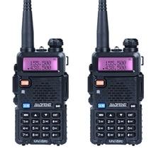 2 teile/los Baofeng UV-5R Walkie Talkie Ham Radio UHF & VHF 136-174 MHz & 400-520 MHz 128 Dual-band-funkgeräte 5 Watt HF Transceiver