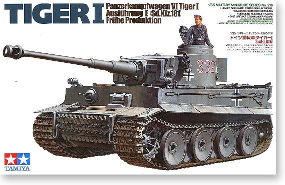 1/35 Niemiecki Tiger Zbiornik Początkowy Etap 35216 II Wojny Światowej w Zestawy modelarskie od Zabawki i hobby na  Grupa 1