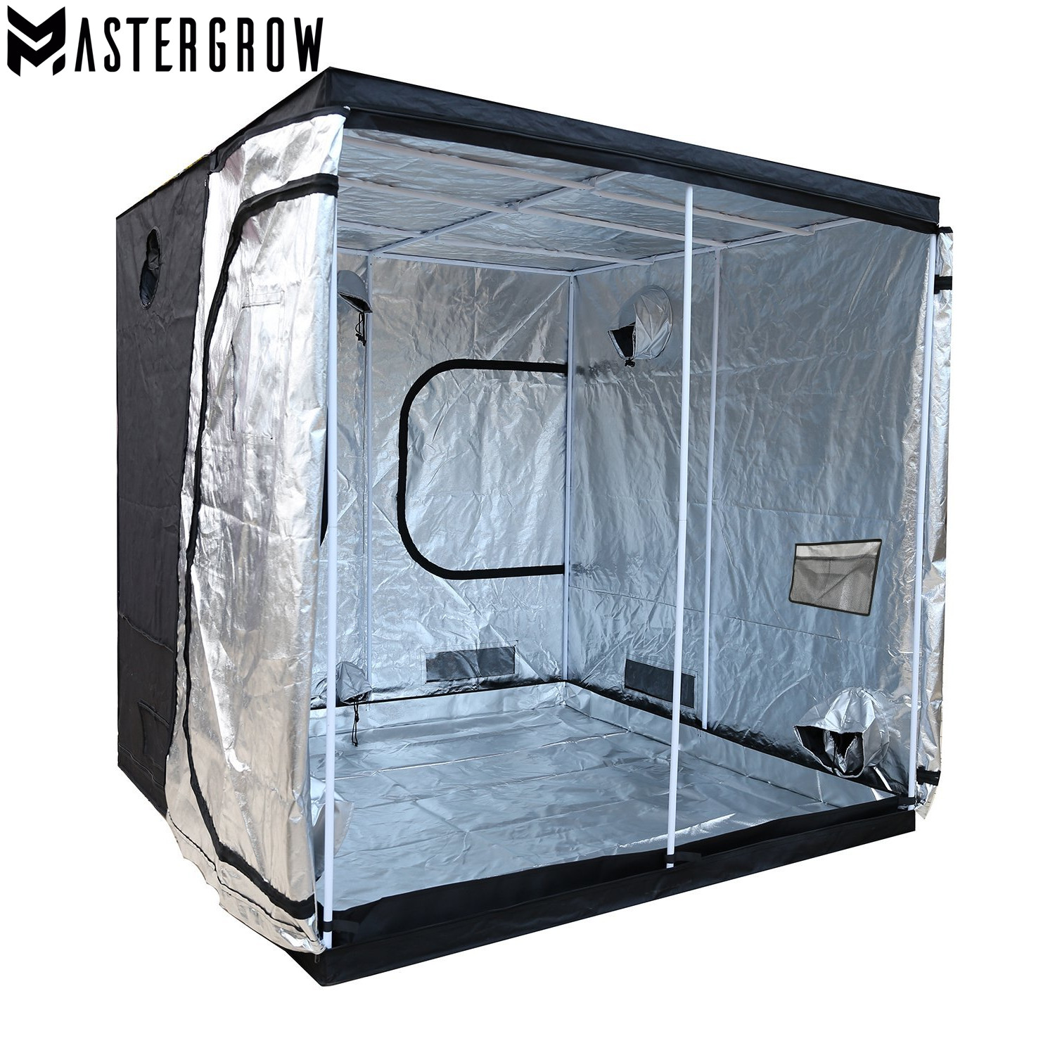 MasterGrow 240X240X200cm Indoor Hydroponics Grow Tent,Grow Room Box Plant Growing, Reflective Mylar Non Toxic Garden Greenhouses