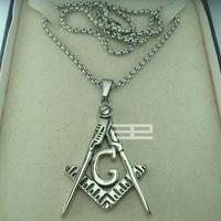Freemasonry Masonic Mason Stainless steel Pendant Free chain necklace N215