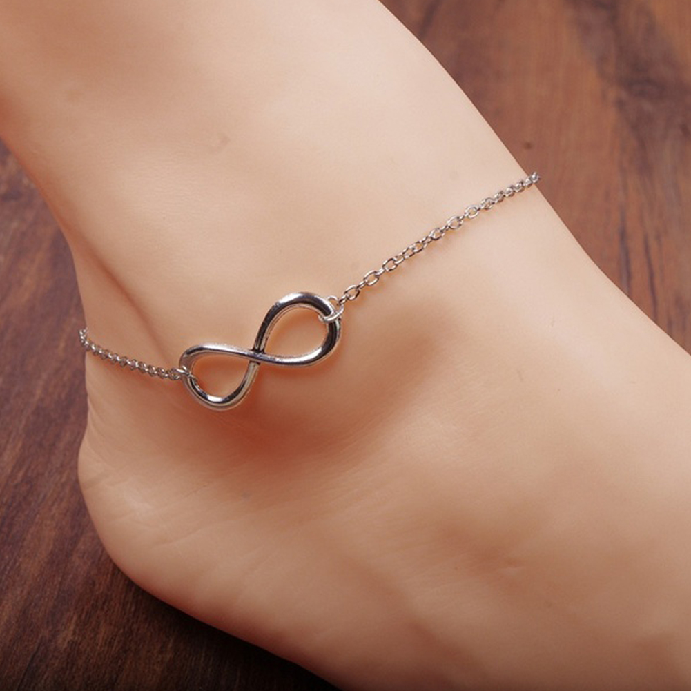 Simple Gold/Silver Alloy 8 Shape Design Foot Feet Ankle Chain ...