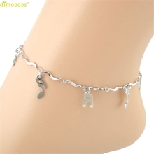 Diomedes Newest Anklets Women Girl 1PC Curve Musical Symbol Anklet Bracelet Sandal Barefoot Beach Foot Jewelry Charm For Girls