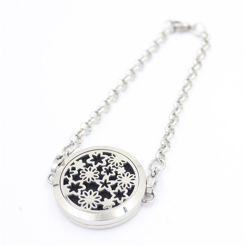 Stars Aromatherapy Essential Oils Stainless Steel Perfume Diffuser Locket Bracelet Best Father Day Gifts