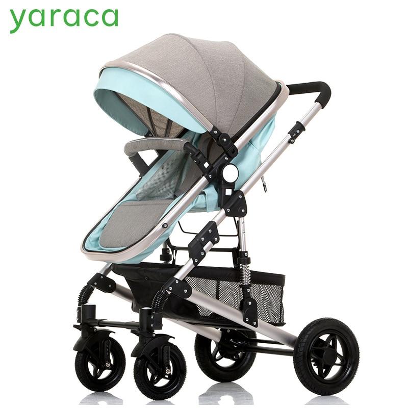 Baby Stroller High Landscape Trolley Baby Car Wheelchair 2 in 1 Prams For Newborns Baby Portable Bassinet Folding Baby Carriage orbit baby люлька колыбель orbit baby g3 bassinet