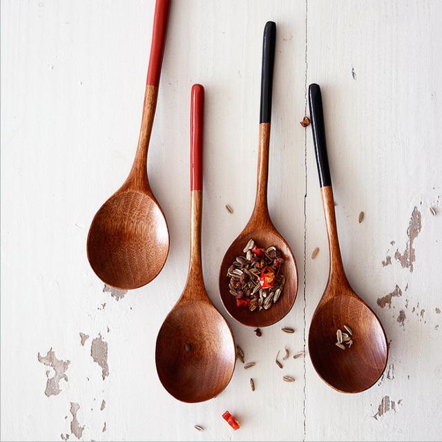 2 sztuk drewniane łyżki japońska zupa łyżeczka do deserów małe drewno kawy łyżeczka dzieci łyżka do lodów kuchnia drewniane naczynia zastawa stołowa tanie i dobre opinie Drewna Dessert Spoons BalmyDays Wooden Spoon Set Coffee Tea Spoon Small Wood Spoon For Soup Dessert Japanese Style Wood Spoon