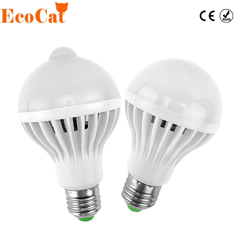 Low Price Pir Motion Sensor Light E27 220v Led Lamp 3w 5w 7w 9w Bulb Auto Smart Sound Sensor