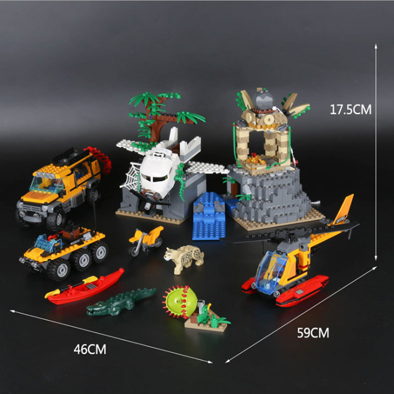 LEPIN 02061 870pcs City Series Exploration Of Jungle Lepin Building Block Compatible 60161 Brick Toy thervox an exploration of sound sculpture