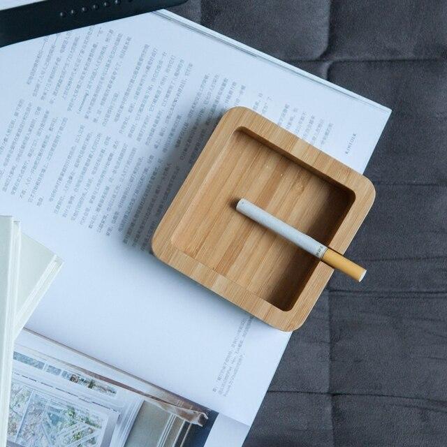 Bambus Aschenbecher Kreative Moderne Stil Wohnzimmer Buro Holztisch Decor Japan Berief Mode Design