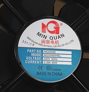 MQ20060 MQ20060HBL2 AC220V original motor high speed winds fan the amount of balls violence new original ebm papst iq3608 01040a02 iq3608 01040 a02 ac 220v 240v 0 07a 7w 4w 172x172mm motor fan