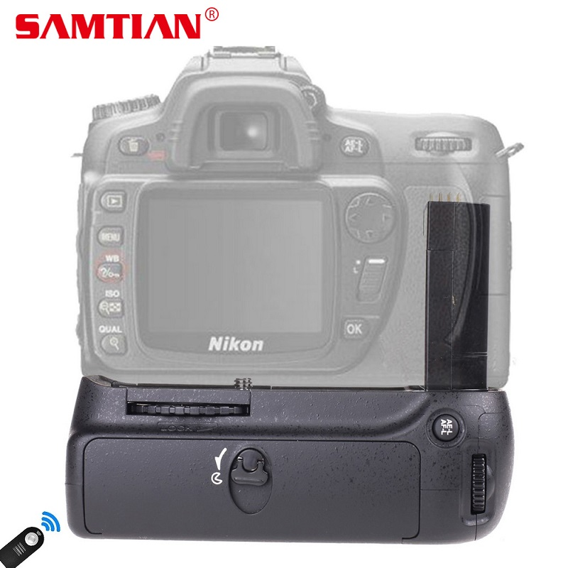 SAMTIAN Vertical Battery Grip Hoder For D90 DSLR Camera Battery Handle Replace MB- Gift Remote Control