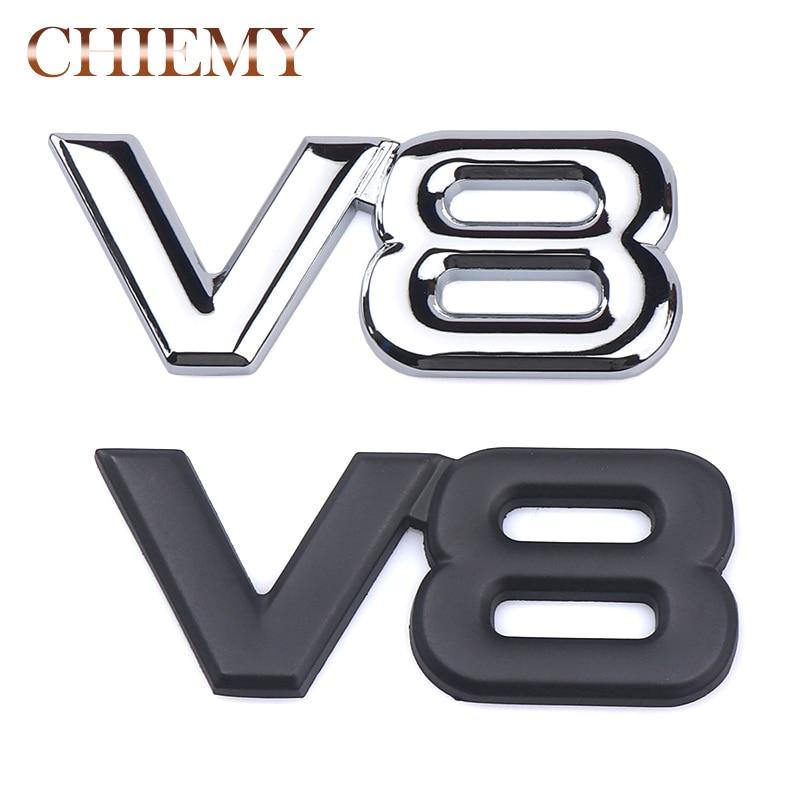Metal 3d V8 Engine Displacement Car Badge V8 Emblem Logo Sticker V8