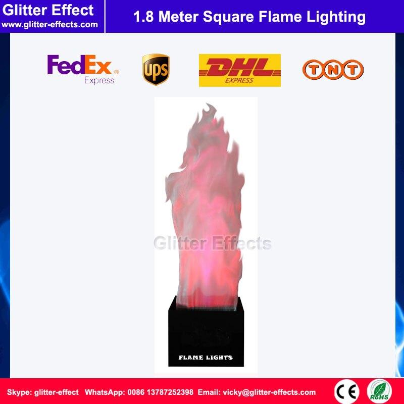 1.8 mètre rouge ou blanc théâtre scène LED faux simulé feu flamme éclairage lampe à LED soie artificielle grande place flamme machine