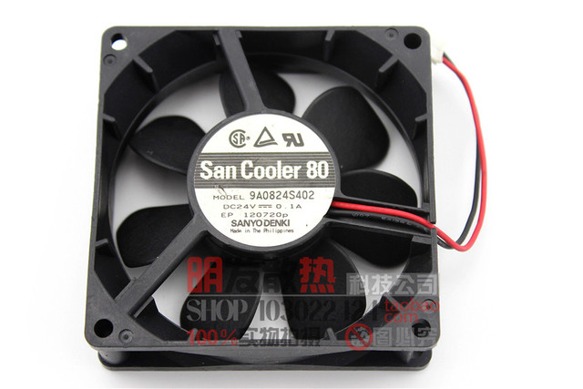 Original 8025 9A0824S402 0.1A 24 V inversor dupla bola ventilador de refrigeração ventilador de fluxo axial