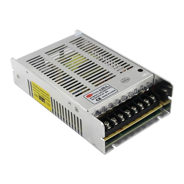 Controlador del interruptor de la fuente de alimentación para tira de luces LED, 5V, 40A, 200W, AC100 240V proveedor de fábrica