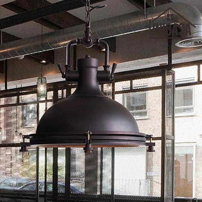 ღ ღVintage lámpara industrial luces de hierro forjado negro sótano ...