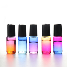 5ml Gradient Color Essential Oil Empty Perfume Bottle Roll on bottles For Essential Oils Roll-on Refillable Perfume Bottle 5ml vintage mass of flowers perfume bottle empty refillable antique bottles crafts