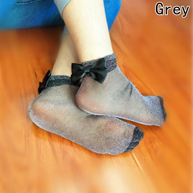 Bow Tie Cute Glitter Bow Knot Socks 5