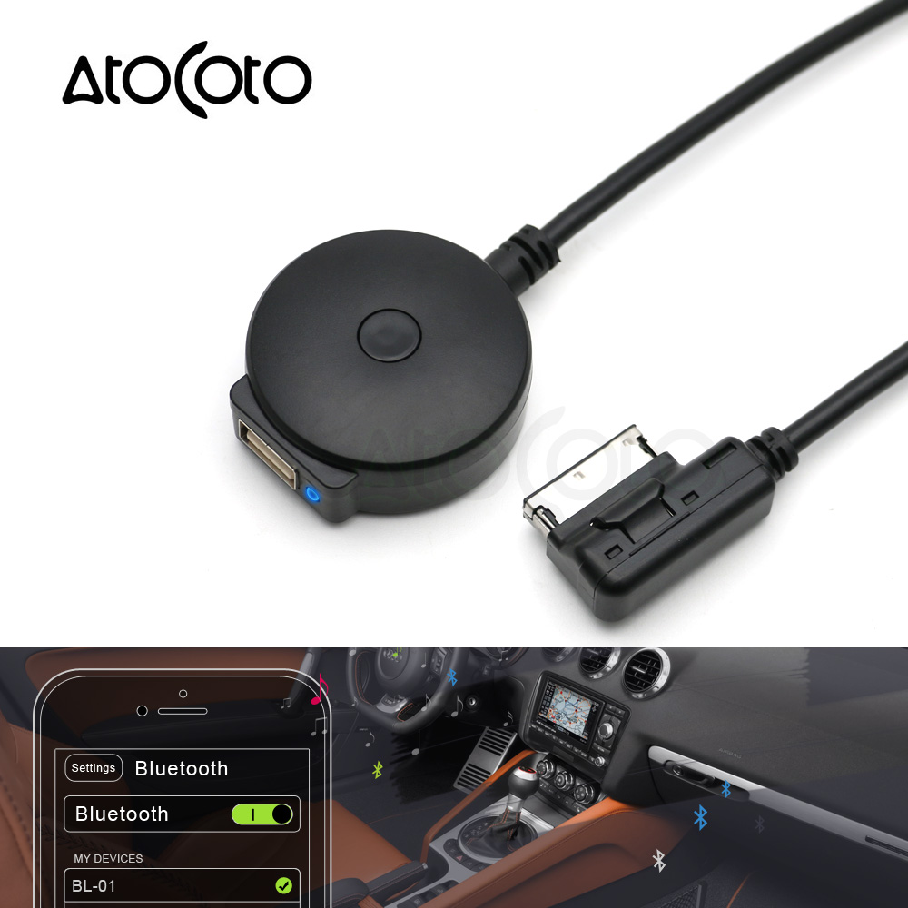 AtoCoto Bluetooth AUX Receiver Cable Adapter For VW Audi