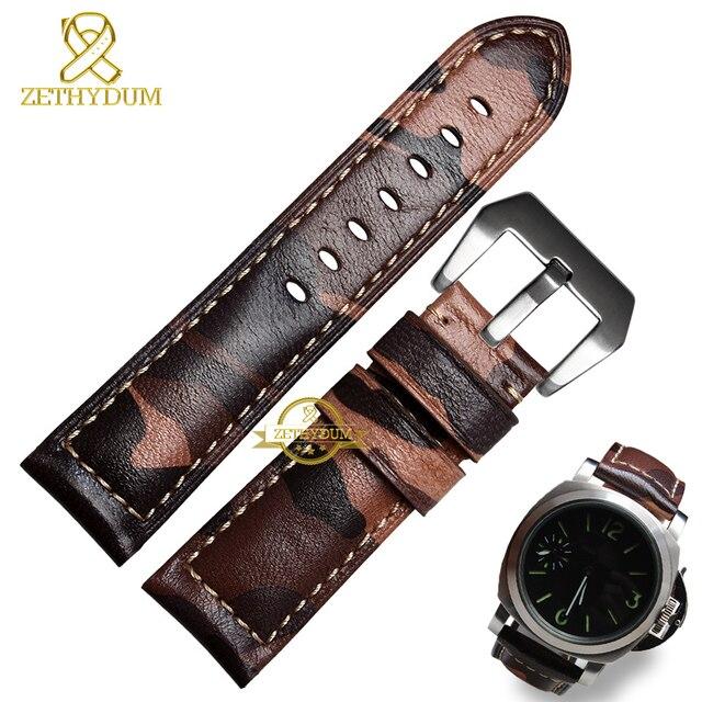c31af196fc2 Pulseira de couro genuíno pulseira homens pulseira relógios de pulso  pulseira de charme de 22 mm