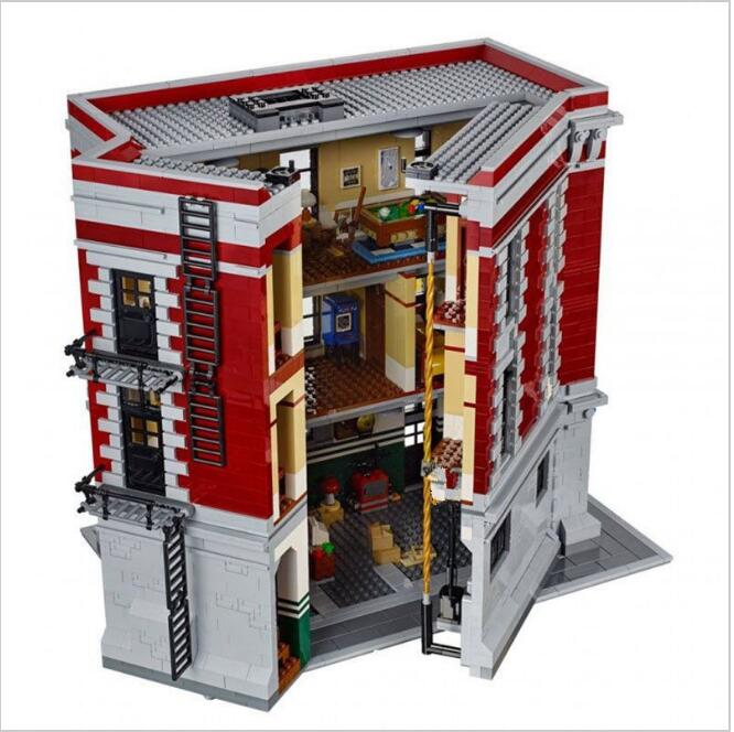 Lis 16001 4705 Pcs Genuine Ghostbusters Firehouse Headquarters Model Educational Building Kits Model Gifts lepin 16001 4705pcs city street series ghostbusters firehouse headquarters building block bricks kids toys for gift 75827