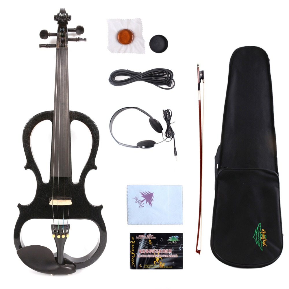 New 4 String 4/4 Electric Violin Powerful Sound Solid wood Ebony part 5#New 4 String 4/4 Electric Violin Powerful Sound Solid wood Ebony part 5#