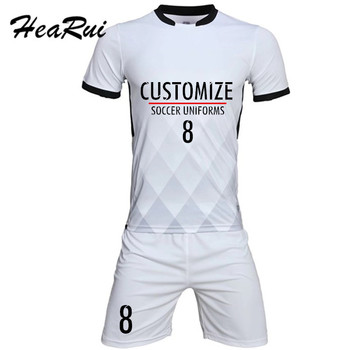 Custom Professional Adulto 2017 Camisas De Futebol Definir roupas de Futebol Uniformes de Futebol Barato Kit Respirável Camisa De Futebol Treino