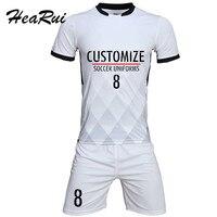 Profesjonalne niestandardowy Dorosłych 2017 Koszulki Piłkarskie Zestaw Mundury Piłkarskie ubrania Zestaw Tanie Oddychająca Koszulka Piłkarska Dres