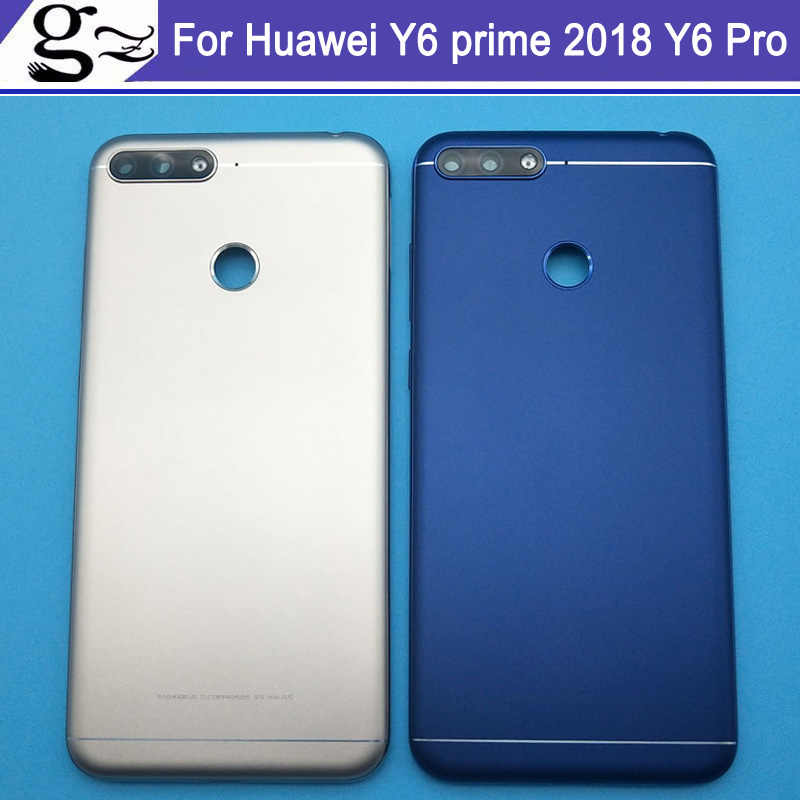 Back Camera Glass Cover for Huawei Y6 prime 2018 Y6 Pro 2018 Y6 2018  Battery Door Housing case Replacement With LOGO for honor