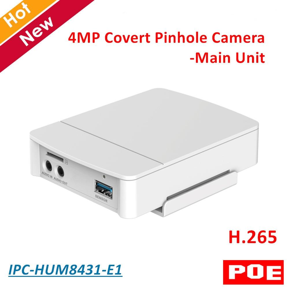 4MP Poe DH Covert Pinhole Kamera Wichtigsten Einheit IPC-HUM8431-E1 H.265 Unterstützung Intelligente erkennung und SD Karte Metall fall