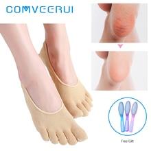 SPA Gel Moisturizing Hydrating 5 Toe Socks Nourishin Hydrating Vitamin E Exfoliating Plant Oil Reusable Skin Deep Care Foot Mask недорого