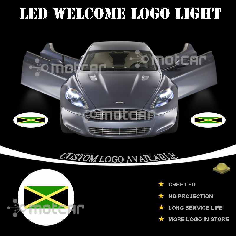 NEWL Custom Logo LED Projection Shadow Car Door Welcome Light DIY Step Light