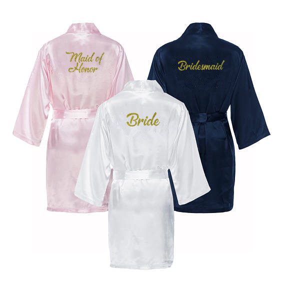 a42948ece3 C Fung Maid of Honor bridesmaid robes personalized matching robes mother of  the bride gift robe
